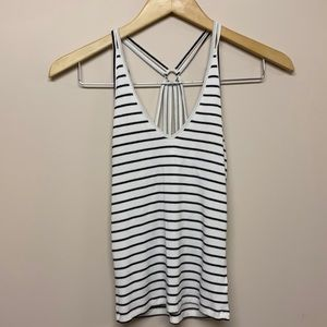 American Eagle outfitters white black tank top